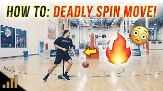 How to: DEADLY MOVE! Try this Spin Move to Break Ankles! [Basketball Moves For Guards]