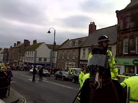 sdl marching through berwick upon tweed town centre feb 16 2013 uaf no show