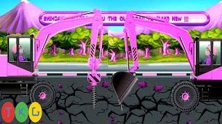 Xe Xúc Đất, Xe Hủ Lô & Xe Tải, Xe Trộn Bê Tông 02   Xây Dựng Công Trình Đường Bộ   TopKidsGames