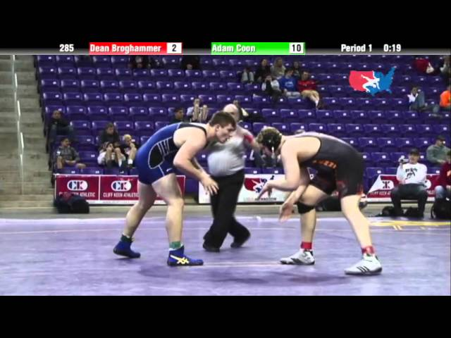 Junior 285 - Dean Broghammer (Delaware County Wrestling Club) vs. Adam Coon (WOW)