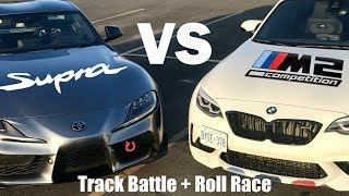 2020 Toyota Supra VS BMW M2 Competition! Track Battle & Roll Race