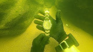 Scuba Diving for a Missing $15,000 Diamond Rolex! (Unbelievable Find)