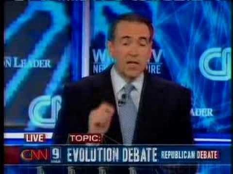 Mike Huckabee responds to evolution question