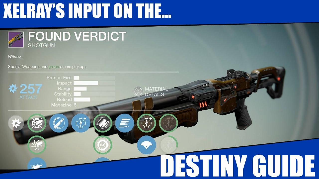 Destiny Invective Vs Found Verdict Weapon Review and Co ...