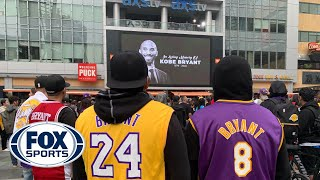 Fans mourn Kobe Bryant's tragic passing outside of Staples Center | FOX SPORTS