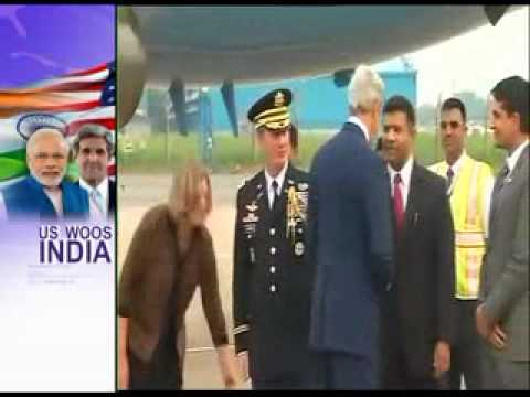 US Secretary of State John Kerry arrives in India for strategic dialogue