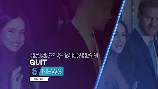 Prince Harry and Meghan Markle have 'hurt' the Queen by stepping back from royal family | 5 News
