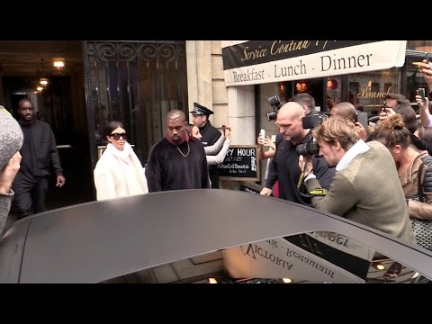 Kim Kardashian and Kanye West at Balmain Show Room in Paris