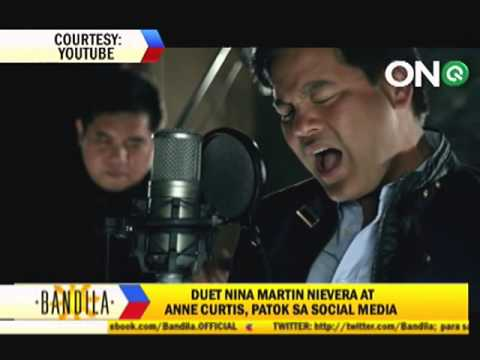 Anne Curtis raps with Martin Nievera