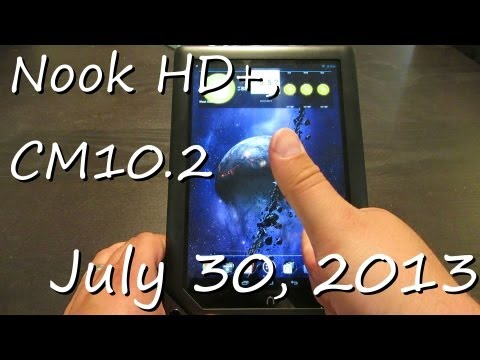 July 30. 2013 - Nook HD+ Running CM10.1.2 demo