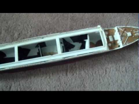 How to Divide a Plastic Model Boat with Bulkheads- Titanic example.