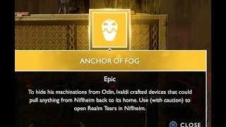 """How To Get The """"Anchor Of Fog"""" God Of War Ps4 Guide"""
