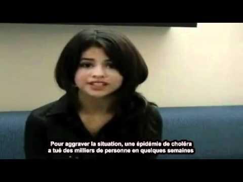 Selena Gomez Haiti message UNICEF sous-titrés français traduction (By Selenag)