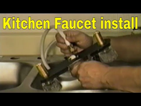 Kitchen Faucet install part 1