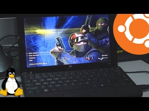 HP Mini 110 running Ubuntu 13.04 Gaming with Intel 945GME