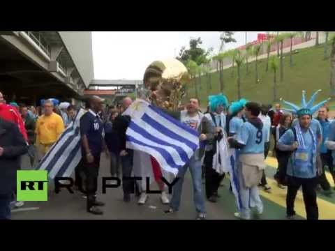 Brazil: Rowdy Brits left without Uruguay clash ticket