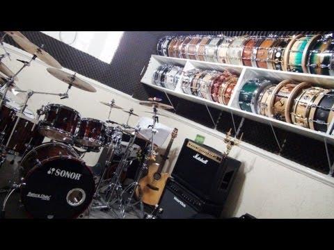 Visitando o BateraClube.com.br drumshop Showroom Tour 2013