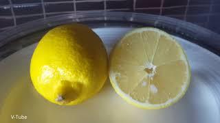 Lemon in a vacuum chamber