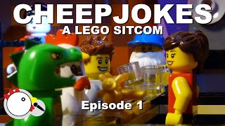 Cheep Jokes - A LEGO Sitcom. Episode 1. Stop Motion Animation and Brickfilm