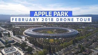 APPLE PARK February 2018 Drone Update 4K