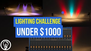 How Can You Build a Lighting Rig for $1000? (LIGHTING CHALLENGE)