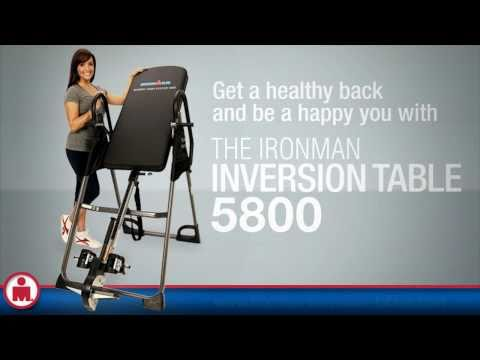 Inversion table: Ironman 5800 inversion table