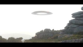 UFO Over Cornish Tor (Unidentified Flying Object) - Donut Shaped