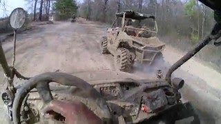 Honda Pioneer and RZR 900 with Brute Force muddin