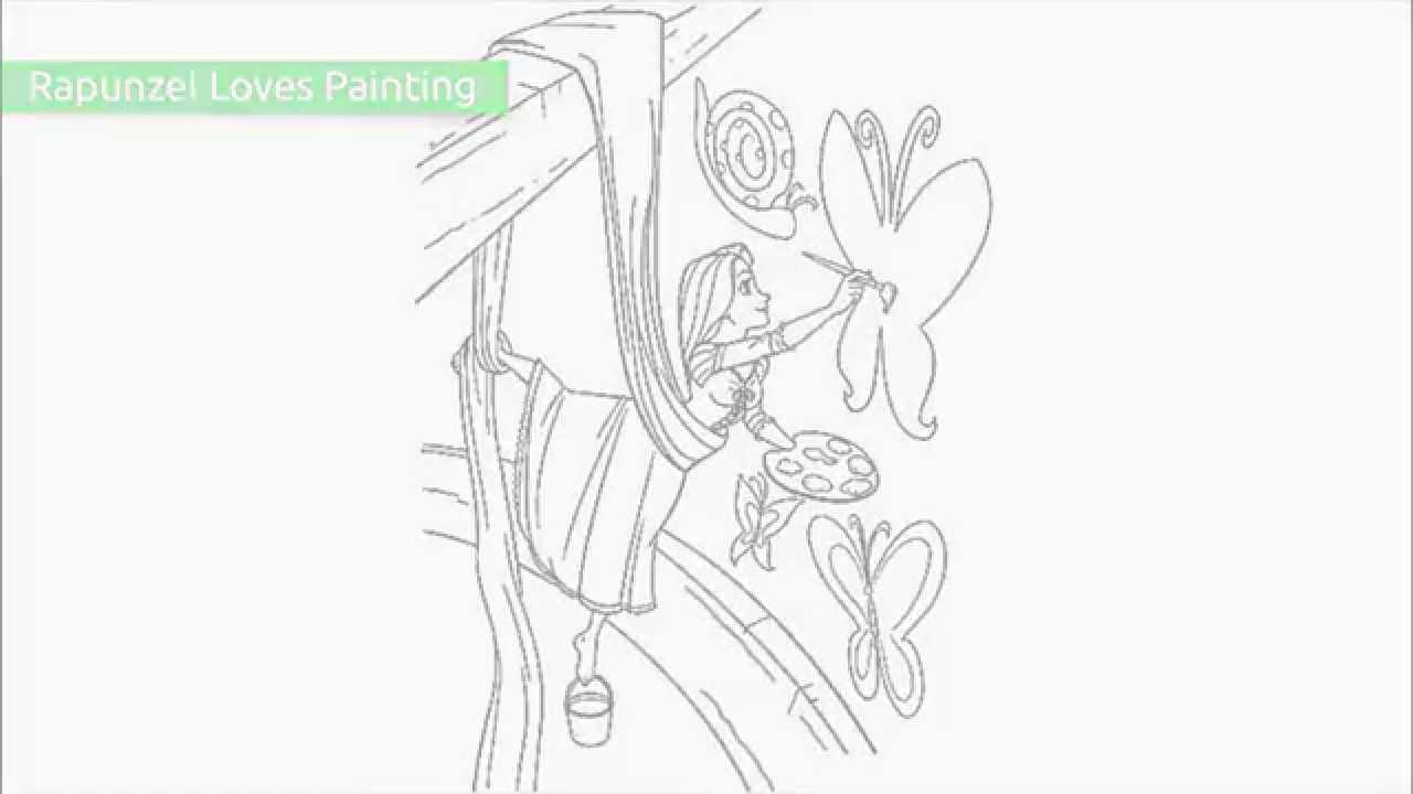 Young Rapunzel Coloring Pages Rapunzel Coloring Pages