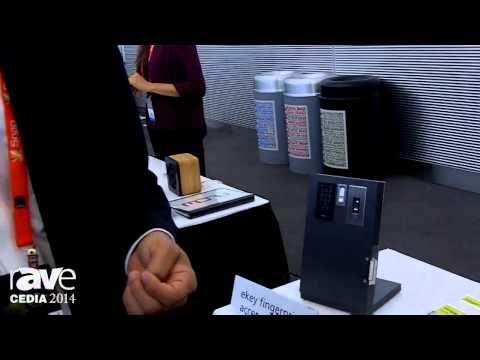 CEDIA 2014: eKEY USA Demos Fingerprint Access Control System for Door Access