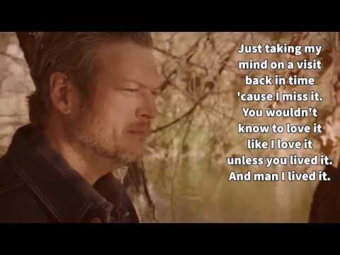 Blake Shelton-I Lived It-Lyrics
