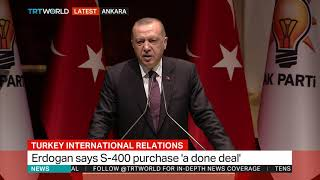 Turkey's Erdogan says he will discuss the F-35 issue with Trump