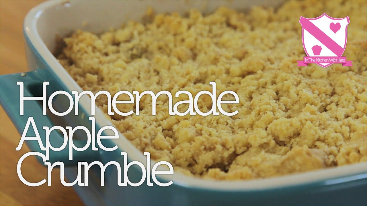 homemade apple crumble recipe youtube. Black Bedroom Furniture Sets. Home Design Ideas