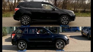 Which 4x4 system is better? Old Suzuki Grand Vitara or New Subaru Forester? Test on rollers