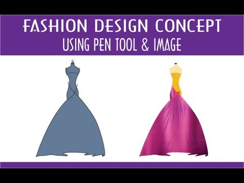 Fashion design using image your sketch Coreldraw tutorial