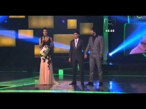 Ganadores Protagonistas de Nuestra Tele 2013 Gaby Garrido y Juver Bilvao