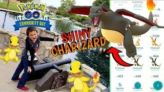 RAREST POKEMON GO EVENT CATCH!! SHINY CHARIZARD HUNTING IN THE PARK!! NEW Community Day!! CAUGHT IT!