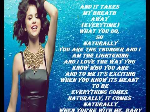 Lyrics Naturally Selena Gomez on Selena Gomez   Naturally Lyrics