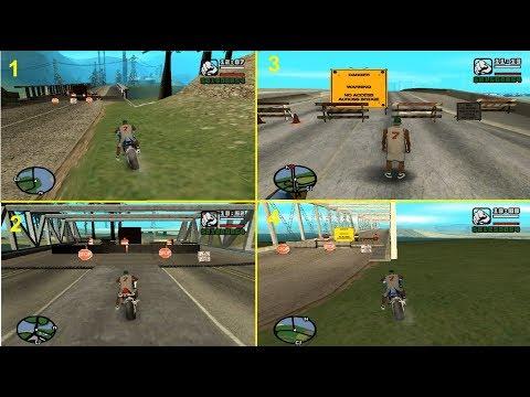 طريقة عبور جميع الحدود التي تربط بين مدن لعبة   Gta San Andreas