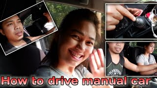 How to drive manual car I My first driving lesson with my hubby