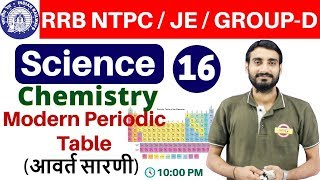Class 16 |#RRB NTPC / JE / GROUP-D | Science (विज्ञान) Chemistry | By Vivek Sir | Periodic Table