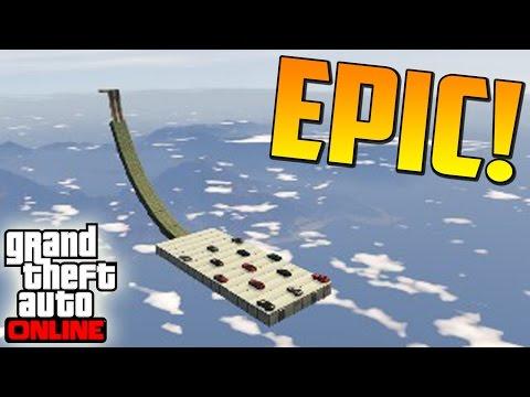 EL SALTO MAS LARGO DE LA HISTORIA!! - Gameplay GTA 5 Online Funny Moments