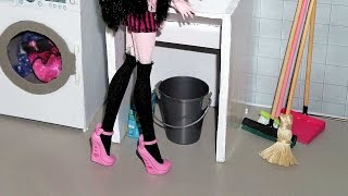 How to make a broom and a mop for doll (Monster High, MLP, EAH, Barbie, etc)