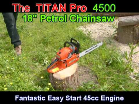 Titan Petrol 45cc Chain Saw