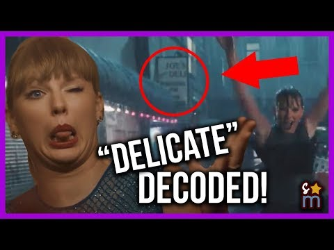 Taylor Swift Delicate Music Video DECODED! Meaning, Easter Eggs, Hidden Messages