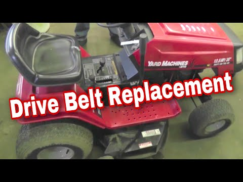 How To Replace The Drive Belt On An MTD Variable Speed Riding Mower with Taryl