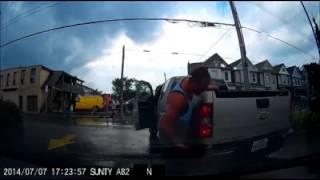 Failed insurance scam fraud fail dashcam dash cam car crash accident Hamilton Canada scams attempt