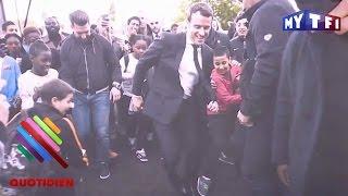 Macron vise la lucarne à Sarcelles - Quotidien du 28 Avril 2017