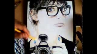 Nikon Girl ( With Color Pencil ) - Speed Drawing