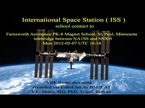 International Space Station contact Farnsworth Aerospace Magnet School, St. Paul (Part 1 Prepare)